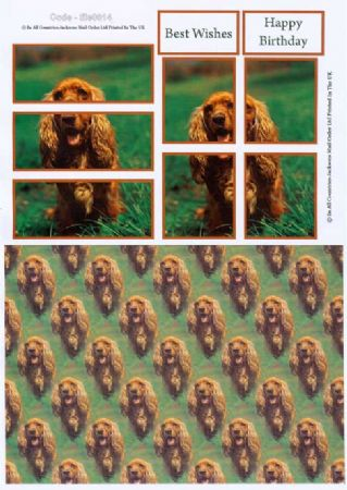 Dog Tile Topper Greeting Card Craft Sheet